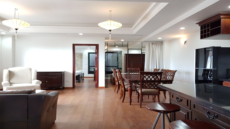 Bright 2 – bedroom apartment in Truc Bach area, Ba Dinh district for rent