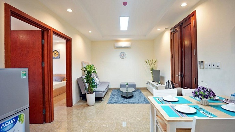Nice modern 2 – bedroom apartment in Giang Vo street, Dong Da district for rent